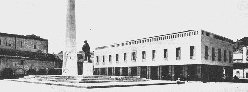 Lugo. Restauro della facciata della Sede Banca di Romagna